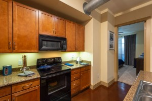Two Bedroom Apartments for Rent in Houston, TX - Model Kitchen with Bedroom View
